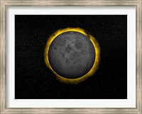 Framed Total eclipse of the Sun