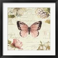 Framed Marche de Fleurs Butterfly I