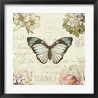 Framed Marche de Fleurs Butterfly II