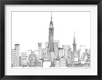 Framed New York Skyline Crop