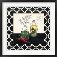 Parsley and Peppers Framed Print