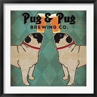 Framed Pug and Pug Brewing Square