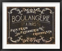 Framed Parisian Signs