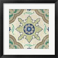 Framed Santorini Tile I