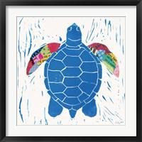 Framed Sea Creature Turtle Color