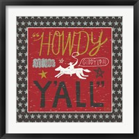 Framed Southern Pride Howdy Yall