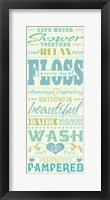 Framed Wash Up IV