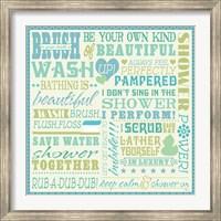 Framed Wash Up V