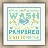 Framed Wash Up VI