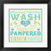 Framed Wash Up VI