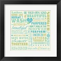 Framed Wash Up Words