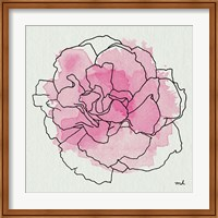Framed Watercolor Floral III