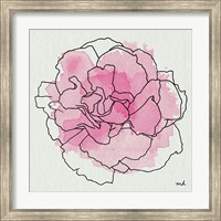 Framed Watercolor Floral III