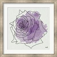 Framed Watercolor Floral IV