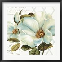 White Floral Bliss II Framed Print