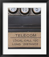 Framed Old Vintage Pay Phone I