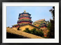 Framed Tower in The Pavilion of Buddhist Fragrance, Beijing, China