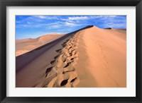 Framed China, Dunhuang, Desert winds, Footprints