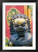 Framed Bronze Lion, The Forbidden City, Beijing, China