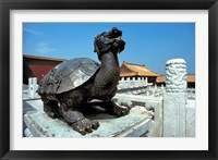 Framed China, Beijing, Forbidden City, Turtle statue