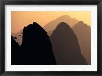 Framed China, Huangshan Mountains, Sunlight