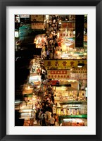 Framed Temple Street Market, Kowloon, Hong Kong, China