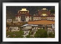 Framed Deqin Tibetan Autonomous Prefecture, Songzhanling Monastery, Zhongdian, Yunnan Province, China