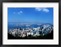 Framed Majestic Hong Kong Harbor from Victoria Peak, Hong Kong, China