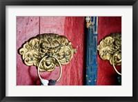 Framed Dragon Head Door Grip, Likir, Ladakh, India