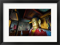 Framed Golden Buddha, Shey, Ladakh, India