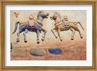 Framed India, Ladakh, Thiksey, Indian and Buddhist gods