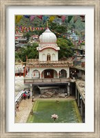 Framed Sri Guru Nanak Ji Gurdwara Shrine, Manikaran, Himachal Pradesh, India