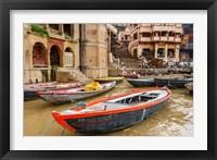 Framed Boats on River Ganges, Varanasi, India