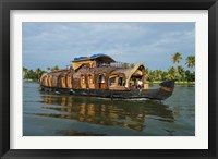 Framed Cruise Boat in Backwaters, Kerala, India