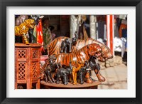 Framed Souvenir Tiger Sculptures, New Delhi, India