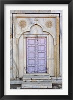 Framed Lavender colored door, Taj Mahal, Agra, India