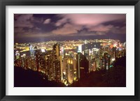 Framed Hong Kong Skyline from Victoria Mountain, China