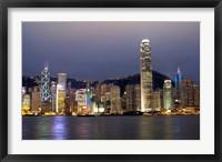 Framed Hong Kong Skyline with Victoris Peak, China
