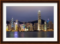 Framed Hong Kong Skyline with Victoris Peak, China