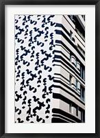 Framed Close up of Building, Hong Kong, China