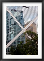 Framed Reflections On Building, Hong Kong, China