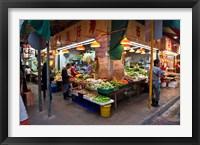 Framed Street Market Vegetables, Hong Kong, China