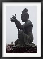 Framed Tian Tan Statues, Hong Kong, China