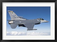 Framed F-16C Fighting Falcon during a sortie over Arizona