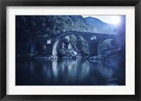 Framed Dyavolski most arch bridge in the Rhodope Mountains, Ardino, Bulgaria