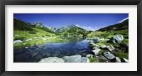 Framed Ribno Banderishko River in Pirin National Park, Bulgaria