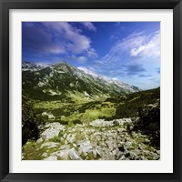 Framed green valley through Pirin Mountains, Pirin National Park, Bulgaria