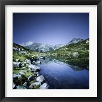 Framed Ribno Banderishko Lake in Pirin National Park, Bulgaria