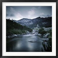 Framed Small river in the mountains of Pirin National Park, Bansko, Bulgaria
