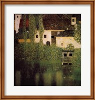 Framed Unterach Manor and Lock Chamber on the Attersee Lake, c.1908